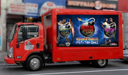 Mobile Billboard Advertising - Bomb Promotions - Business