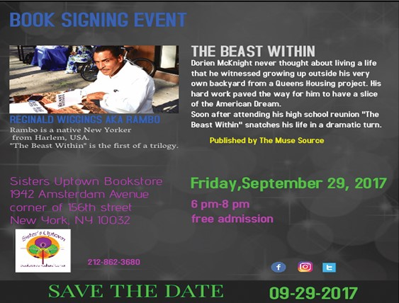 """""""The Beast Within"""" Book Signing"""