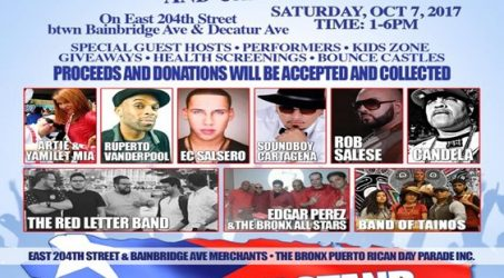 Hurricane Relief Concert & Car Show @ East 204th Street Saturday October 7, 2017