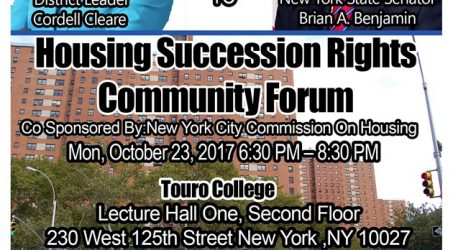 Housing Succession Rights Community Forum @ Touro College Of Pharmacy Monday October 23, 2017